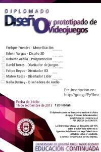 Diplomado de Diseño y Prototipado de videojuegos en la Tadeo Lozano